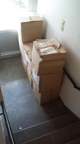 8 boxes, ground floor